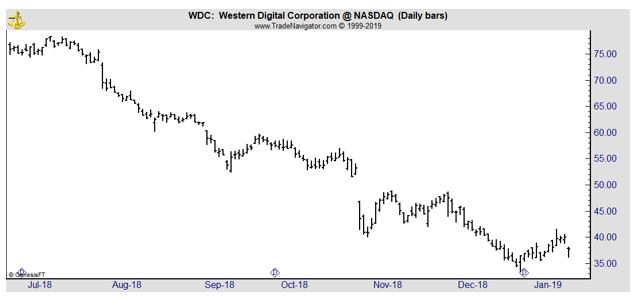 WDC daily chart