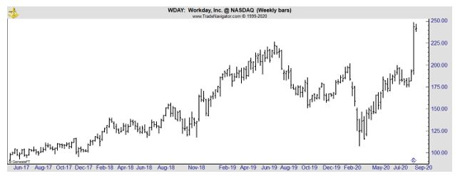 WDAY weekly chart